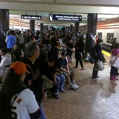 Photo taken at Powell St. BART Station by Ali T. on 4/21/2013