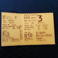 Photo taken at Golden Screen Cinemas (GSC) by Meheheheow on 11/4/2012