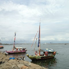 Photo taken at Ancol Beach by Urbanus N. on 2/3/2013
