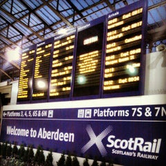 Photo taken at Aberdeen Railway Station (ABD) by Paul T. on 12/11/2012
