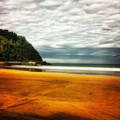 Photo taken at Playa de Zarautz by elena m. on 10/16/2012