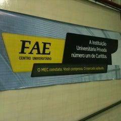 Photo taken at FAE Centro Universitário - Prédio I by Mauro césar N. on 4/12/2013