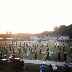 Photo taken at North Forsyth Football Stadium by Mike E. on 9/27/2013