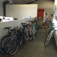 Photo taken at Pure Fix Cycles HQ by china on 9/12/2015