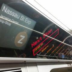 Photo taken at MTA Subway - Z Train by ❤Sandra💙 V. on 2/24/2015