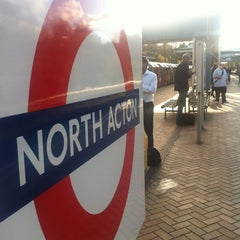 Photo taken at North Acton London Underground Station by Gabriel A. on 4/18/2013