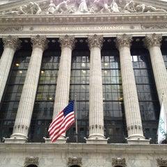 Photo taken at New York Stock Exchange by yoichi y. on 3/11/2013