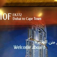 Photo taken at Emirates Lounge by Tarek H. on 5/18/2014