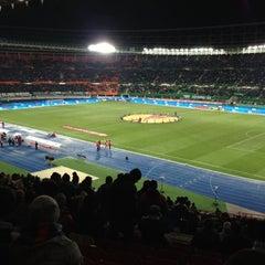 Photo taken at Ernst Happel Stadion by Alexander L. on 12/15/2012