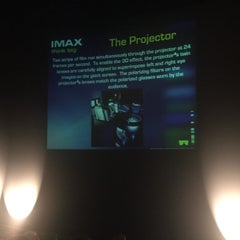 Photo taken at IMAX® Theater by Calvin H. on 3/8/2015