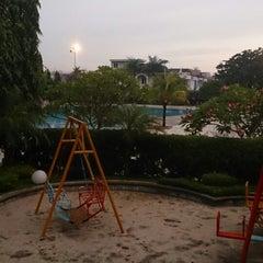 Photo taken at Kolam Renang Mutiara Residence by Juniar L. on 8/27/2014