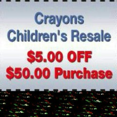 Photo taken at Crayons Children's Resale by Crayons C. on 3/22/2014