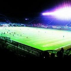 Photo taken at Stadion Maguwoharjo by Larasatti A. on 3/16/2013