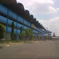 Photo taken at Stadion Maguwoharjo by Muhamad Gunawan S. on 9/20/2015