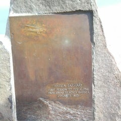 Photo taken at Amelia Earhart marker at Diamond Head Lookout by Chinmayi P. on 1/5/2013