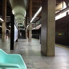 Photo taken at Estação Ana Rosa (Metrô) by Cris M. on 10/12/2012
