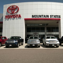 Photo taken at Mountain States Toyota by Sonic Automotive on 11/5/2014
