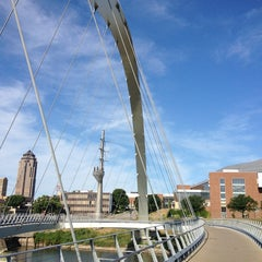 Photo taken at Pedestrian Bridge by Jason P. on 8/4/2013