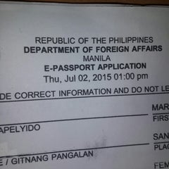 Photo taken at DFA Office of Consular Affairs by Marian B. on 7/2/2015