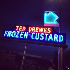 Photo taken at Ted Drewes Frozen Custard by Adam H. on 4/22/2013