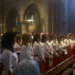 Photo taken at Basilique Notre-Dame d'Avesnières by Paul P. on 8/15/2014