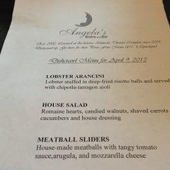 Photo taken at Angela's Bistro & Bar by Arnold G. on 4/10/2013
