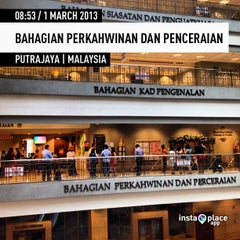 Photo taken at Bahagian Perkahwinan dan Penceraian by Alan L. on 3/1/2013