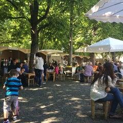 Photo taken at Karlsplatz by Candan K. on 6/24/2014