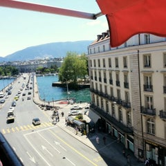 Photo taken at Hotel Bristol Geneva by Ms. A. on 7/5/2013