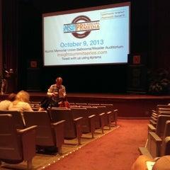 Photo taken at Weasler Auditorium by Jon M. on 10/9/2013