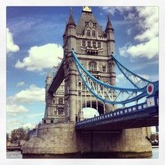 Photo taken at Tower Bridge by Bertrand M. on 5/12/2013