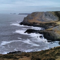 Photo taken at Worms Head by David B. on 3/5/2014