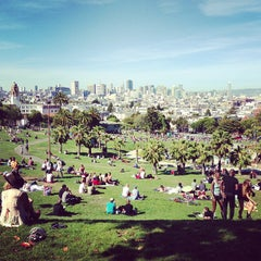 Photo taken at Mission Dolores Park by Prabhu R. on 5/12/2013