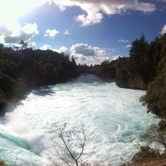 Photo taken at Huka Falls by Pablo S. on 8/24/2012