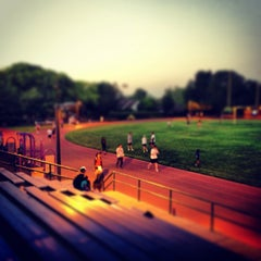 Photo taken at Campbell Community Center Track by Aki Y. on 7/12/2013