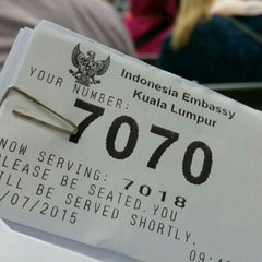 Photo taken at Kedutaan Besar Republik Indonesia by Anddreah Y. on 7/22/2015