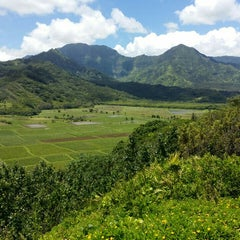 Photo taken at Hanalei Valley Lookout by Kevin C. on 7/27/2015