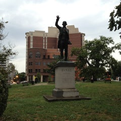 Photo taken at Edmund Burke Statue by William l. on 8/10/2012