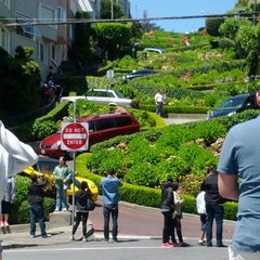 Photo taken at Lombard Street by Marsha T. on 6/2/2012