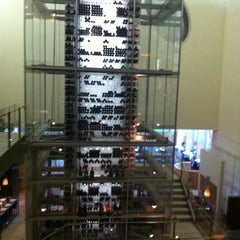 Photo taken at Aureole Wine Lounge by Megan F. on 5/29/2012
