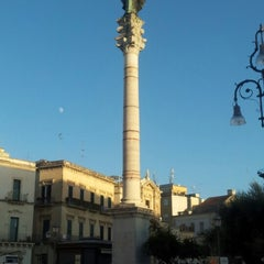 Photo taken at Piazza Sant'Oronzo by Alessandro R. on 8/27/2012