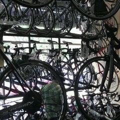 Photo taken at Tread Bike Shop by Lori L. on 7/1/2012