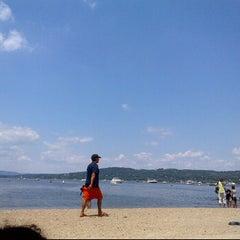 Photo taken at Croton Point Beach by eSpacioShop .. on 7/22/2012