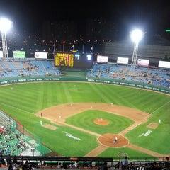 Photo taken at 사직야구장 (Sajik Baseball Stadium) by SuYoung J. on 5/14/2013