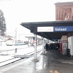Photo taken at Bahnhof Gstaad by Nicolas B. on 2/21/2014