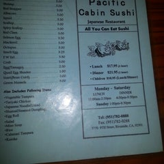 Photo taken at Pacific Cabin Sushi by Kim B. on 3/24/2014