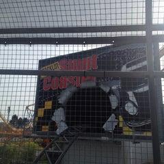 Photo taken at Backlot Stunt Coaster by Joshua M. on 10/13/2012
