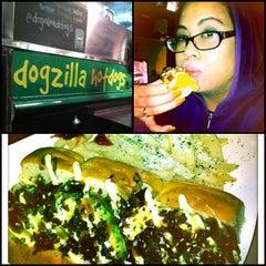 Photo taken at Dogzilla Hot Dogs Truck by Abby L. on 1/14/2013