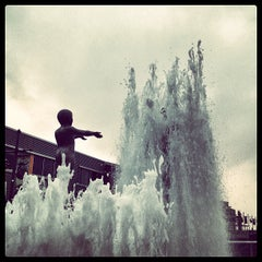Photo taken at Father & Son Fountain by Arturo V. on 4/22/2013