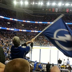 Photo taken at Amalie Arena by Tony B. on 2/22/2013